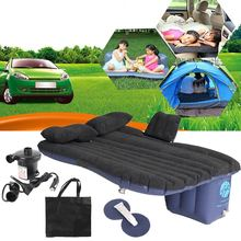 Universal Car Travel Inflatable Mattress Car Inflatable Bed Air Bed Cushion Outdoor Travel Beds Sofa with Inflatable Pump(China)