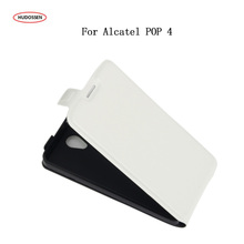"Buy HUDOSSEN Alcatel Pop 4 5.0"" Phone Cases Fundas Flip PU Leather Case Protective Cover Card Holder Coque Alcatel Pop4 for $3.74 in AliExpress store"