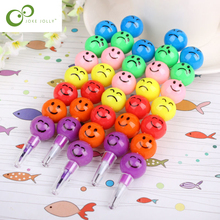 3 pcs 7 Colors Crayons Hot Sale Creative Sugar-Coated Haws Cartoon Smiley Graffiti Pen Stationery Gifts For Kids S9(China)