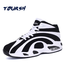 TOURSH Lovers Size 36-44 Outdoor Basketball Shoes Men&Women Air cushion Brand Sport Trainers High top Male Zapatillas Baloncesto
