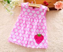 2017 New Style Baby Dress Princess for Infant Summer Multicolor Stripes Baby Girl Dresses Newborn Girls Cutton Clothes 0-24month