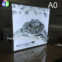 white alumiunm led poster frame for Jewelry advertising slim light box display sign(China)