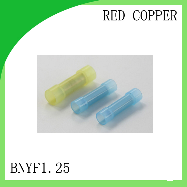 red copper 1000 PCS BNYF1.25 cold-pressure terminal  long-wide insulation in the middle connector cable lug<br>