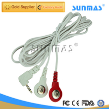 SUNMAS Tens Unit 6 PCS 2.5mm Replacement Wires Snap on Tens Electrode Lead Cord Cable Electrode Wire