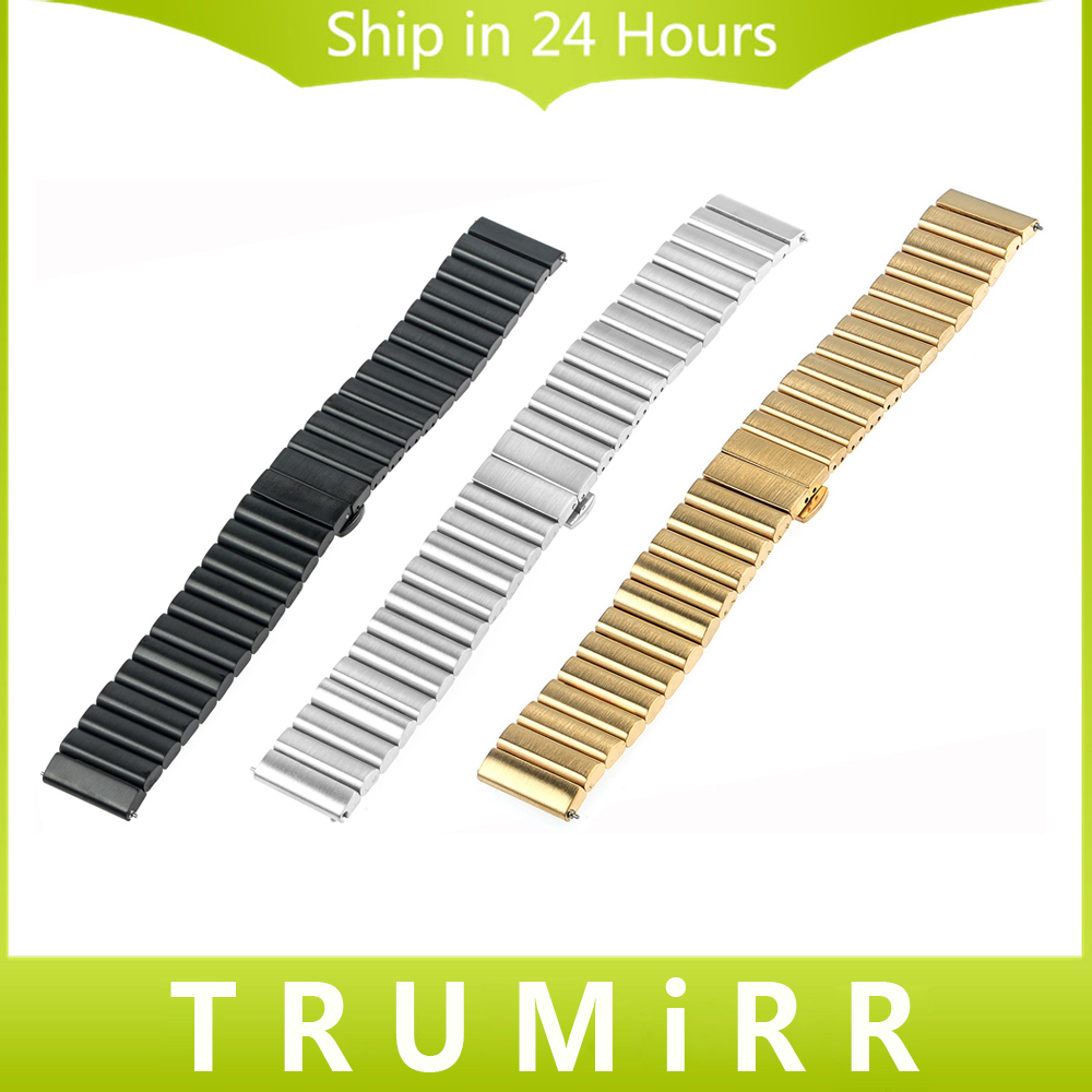 20mm 22mm Universal Stainless Steel Watchband with Quick Release Pin Upgraded Link Remover Band Bracelet Strap Black Gold Silver<br>