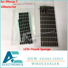 100sets/lot sponge pad foam Sticker LCD and digitizer touch screen flex cable Stickers for iPhone 7(China)