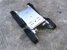 T999 Tank Car Aluminum Alloy Chassis,DC Motor, Wall-e robot chassis for remote tank control,tank design competition