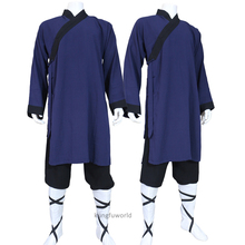 24 Colors Shaolin Monk Kung fu Uniform Buddhist Robe Tai chi Suit Martial arts Wing Chun Clothes Soft Linen Custom Service(China)