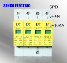 SPD 3P+N 5-10KA surge arrester protection device electric surge protector D ~385V AC