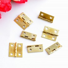 Free Shipping 100pcs Gold Tone Hardware 4 Holes DIY Box Butt Door Hinges (Not Including Screws) 18x15mm J3157