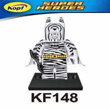 KF148 Super Heroes Zebra Batman The Head Night Light Building Blocks Bricks Action Model Best Education For Children Gift Toys