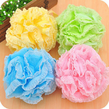 2017 Flower Body Wash Bath Ball Large Bath Sponge Diameter 18cm Bath Flower Mesh Bathroom Supplies  Bath Ball