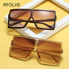 RFOLVE New Fashion Trend Women Sunglasses Classic Square Very Large Prevent Bask In Glasses UV400 Individuality Eyeglasses R8233