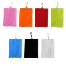 23X17cm Universal Phone Velvet Pouch Fabric Holder Common General Phone Socks Housing Bags For Ipad mini Smartphones Ipod Larger(China)