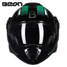 BEON 180 Flip Motorcycle Helmet Modular Open Full Face Helmet Moto Casque Casco Motocicleta Capacete Helmets ECE