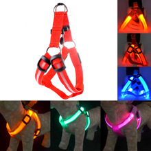 New LED Dog Collar Peppy Dog Led Flashing Light Harness Collar Pet Safety Led Leash Rope Belt Wholesales high quality