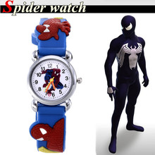 Fashion Style Child Cartoon Watch New Spider man boy Watch High Quality Girls Wristwatch Hot Sale Cute Jelly Colorful Relojes