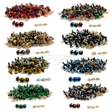Hot 100pcs 12MM Plastic Safety Eyes For Teddy Bear Doll Animal Puppet Craft #T026#(China)