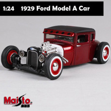 1/24 Scale brand maisto children mini 1929 Ford Model A metal diecast vintage bubble cars model gift toys kids for collection
