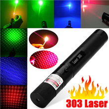 532NM 650NM 405NM RED Blue Green Laser Pointer Adjustable SDlaser 303 Presenter Laser pen High Powered Focus Burning Green(China)
