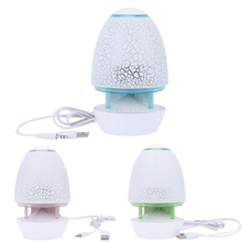 Mini Wired Speaker LED Table Light Style 3.5mm Portable Speaker USB Power Supply Cute Speaker for MP3 Computer Laptop Phone(China)