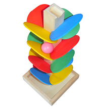 Wooden Tree Blocks Marble Ball Run Track Game Baby Kids Children Models & Building Toy Intelligence Educational Toy