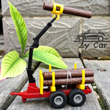 1:64. SIKU Wood car Grab the wood crane Alloy metal kids toys child model collect decoration birthday Christmas present(China)