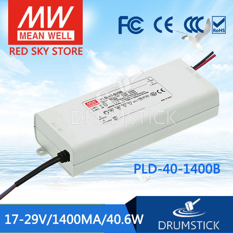 100% Original MEAN WELL PLD-40-1400B 29V 1400mA meanwell PLD-40 29V 40.6W Single Output LED Switching Power Supply [Hot1]<br>