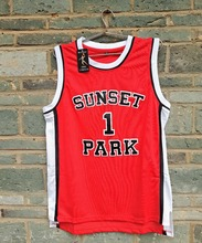 LIANZEXIN Sunset Park Jerseys High School #1 Fredro Starr Shorty Throwback Jersey Red Wholesale Price Cheap Sale(China)
