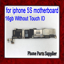 16gb for iphone 5s motherboard without Touch ID,100% original unlocked for iphone 5s motherboard with Chips by free Shipping