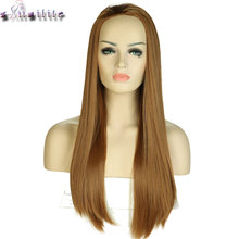 S-noilite 26'' Long Straight Hair Wigs Heat Resistant Synthetic Wigs For Black White Women Natural Female Hair Pieces(China)