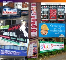 PVC VINYL BANNERS - PRINTED OUTDOOR ADVERTISING SIGN DISPLAY
