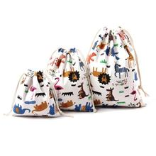 Christmas drawstring bags Candy Bag animal cartoon Sack Candy Pouch Sweet Organizer Bag For Wedding Birthday Party Jewelry 45(China)