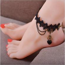 Love Gift Heart Bracelet On Leg Summer Jewelry Wholesale Anklet Bracelet Foot Jewelry Women C564