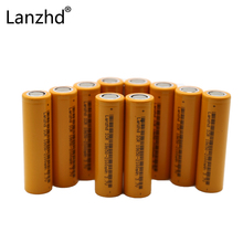 Lanzhd 10PCS Original ICR 18650 Battery 3.7V Rechargeable Batteries Li-ion Battery for Laptop flashlight 2000mAh Lithium bettery