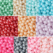 8mm Shell Color Round Beads 100pcs/lot Wholesale European No Hole Beads For Kids DIY Jewelry Making Wedding Decorations