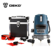 DEKOPRO 5 Lines 6 Points Laser Level 360 Vertical & Horizontal Rotary Cross Laser Line Leveling with Outdoor Mode + Glasses