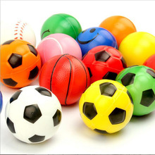 5pcs Lovely Basketball/Soccer etc Shape Spherical Small Bouncy Ball Rubber Dog Training Chewing Playing Pet Toys Random Style(China)