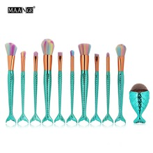10/11 Pcs/set Makeup Brushes Set Power Foundation Blending Eye Shadow Contour Concealer Blush Face Make Up Brush Beauty Kit