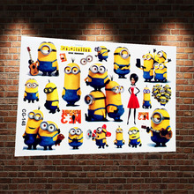 3D Funny Minions Man Cartoon Temporary Tattoo Stickers Child New Despicable Me Flash Tattoo Paste Body Art Tatoos Free Shipping
