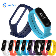 Buy Mi Band 3 Bracelet Strap Miband 3 Colorful Strap Wristband Replacement Smart Band wrist strap Xiaomi Mi Band 3 Silicone for $1.19 in AliExpress store