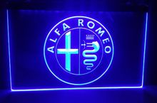 tyr13 Alfa Romeo Car Services Parts beer bar pub club 3d signs LED Neon Light Sign home decor crafts(China)