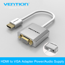 Vention 1080P HDMI to VGA Adapter digital to analog Audio Converter Cable for Xbox 360 PS3 PS4 PC Laptop TV box to Projector(China)