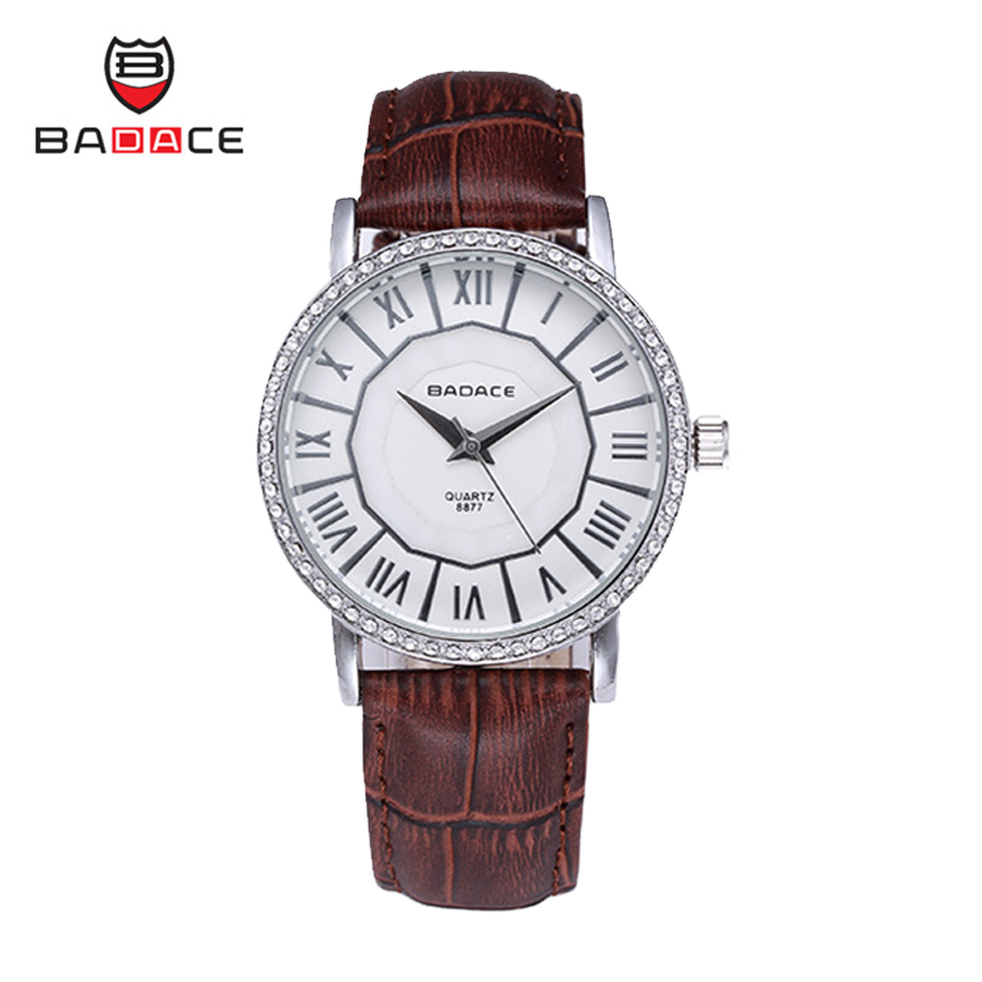 Roman Style BADACE Set Auger Genuine Leather Band Men Watches Fashion Waterproof Quartz-Watch Casual Male Wristwatches 8877<br><br>Aliexpress