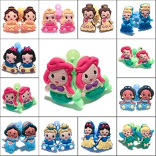 1Pair Pretty Princess Cartoon Girls Hairbands Cute Headwear Hair Accessories PVC+Elastic Bands Kid Party Gift Hair Jewelry(China)