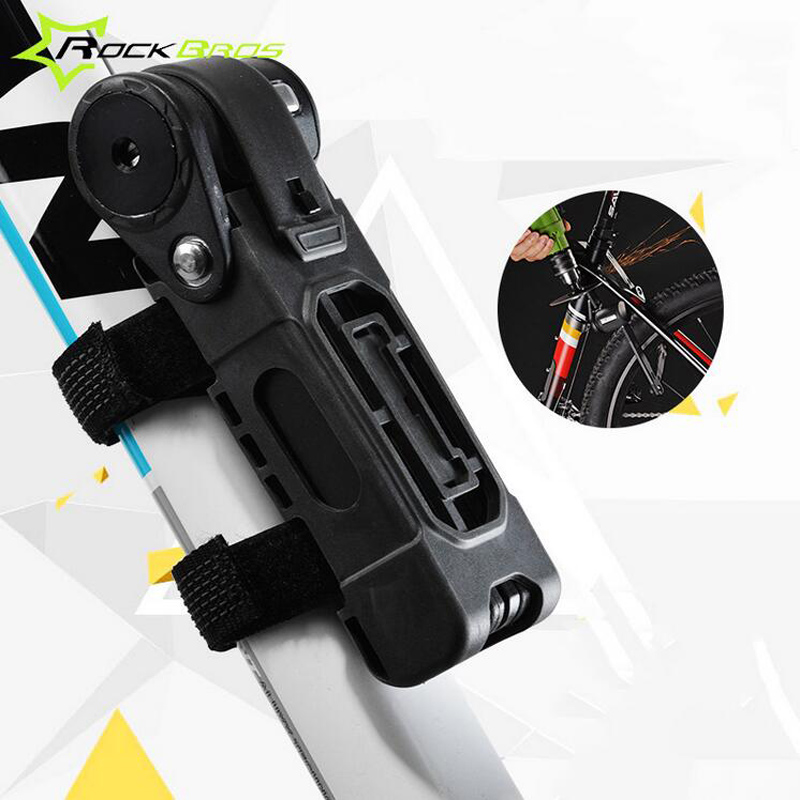 ROCKBROS Foldbale Bicycle Steel Alloy Lock Safety Anti-Theft Bike Cable Lock MTB Mountain Road Rid Bike Cycling Accessory H6805<br>