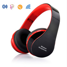 Foldable Headband Headphone Portable Wireless Bluetooth Headset w/ Mic/Handsfree Stereo Music Player Sports Earphone For iphone