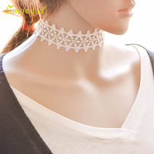 Necklaces Diomedes Gussy Life Wholesale Women Simple Vintage White Lace Clavicle Chain Necklace Collar Choker Jewelry Feb14