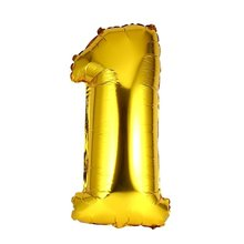 OCDAY Gold Digital Birthday Wedding Decorations Digit Foil Balloons Air Helium Balloons Event Party Supplies Inflatable Toys(China)