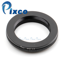 Pixco Lens Adapter Suit For M42 Mount to Olympus Four Thirds OM4/3 Camera E-5 E-7 E420 E620 E520 E-410 E-510 E500 E3 Black(China)